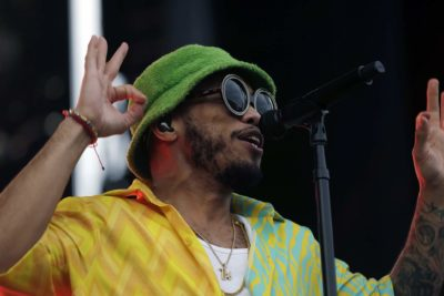 Anderson .Paak & The Free Nationals perform on Saturday night at Boston Calling. (Hadley Green for WBUR)
