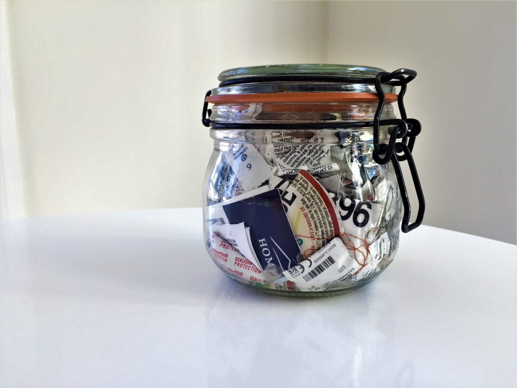 Bea Johnson and the rest of her zero-waste family are able to fit their yearly trash into a small jar. (Courtesy of Bea Johnson)