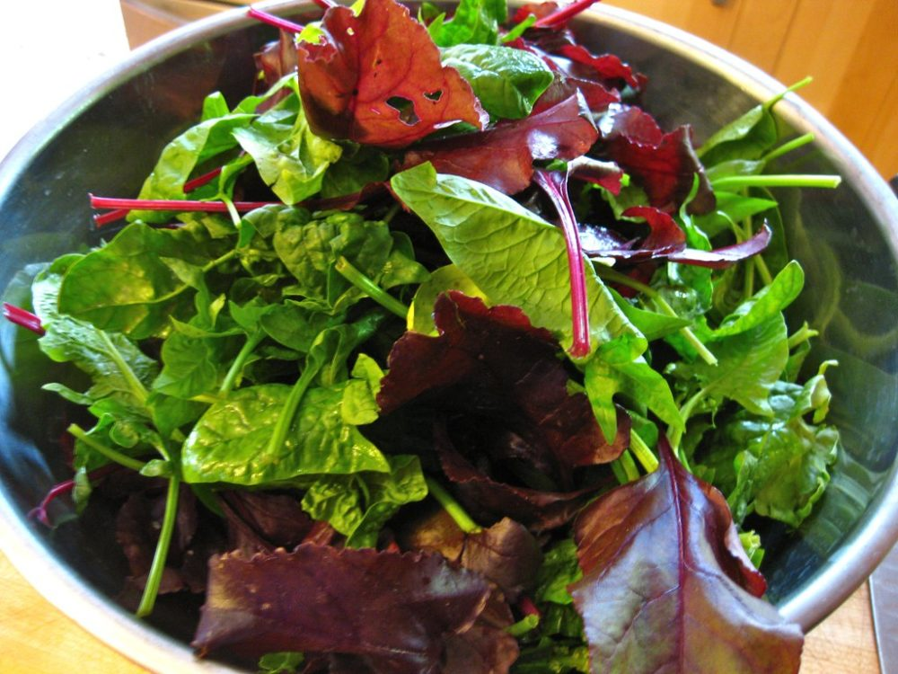 Spinach and beet green salad. (Timothy Vollmer via flickr)