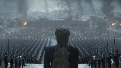 """Emilia Clarke in the series finale of """"Game of Thrones."""" (HBO)"""