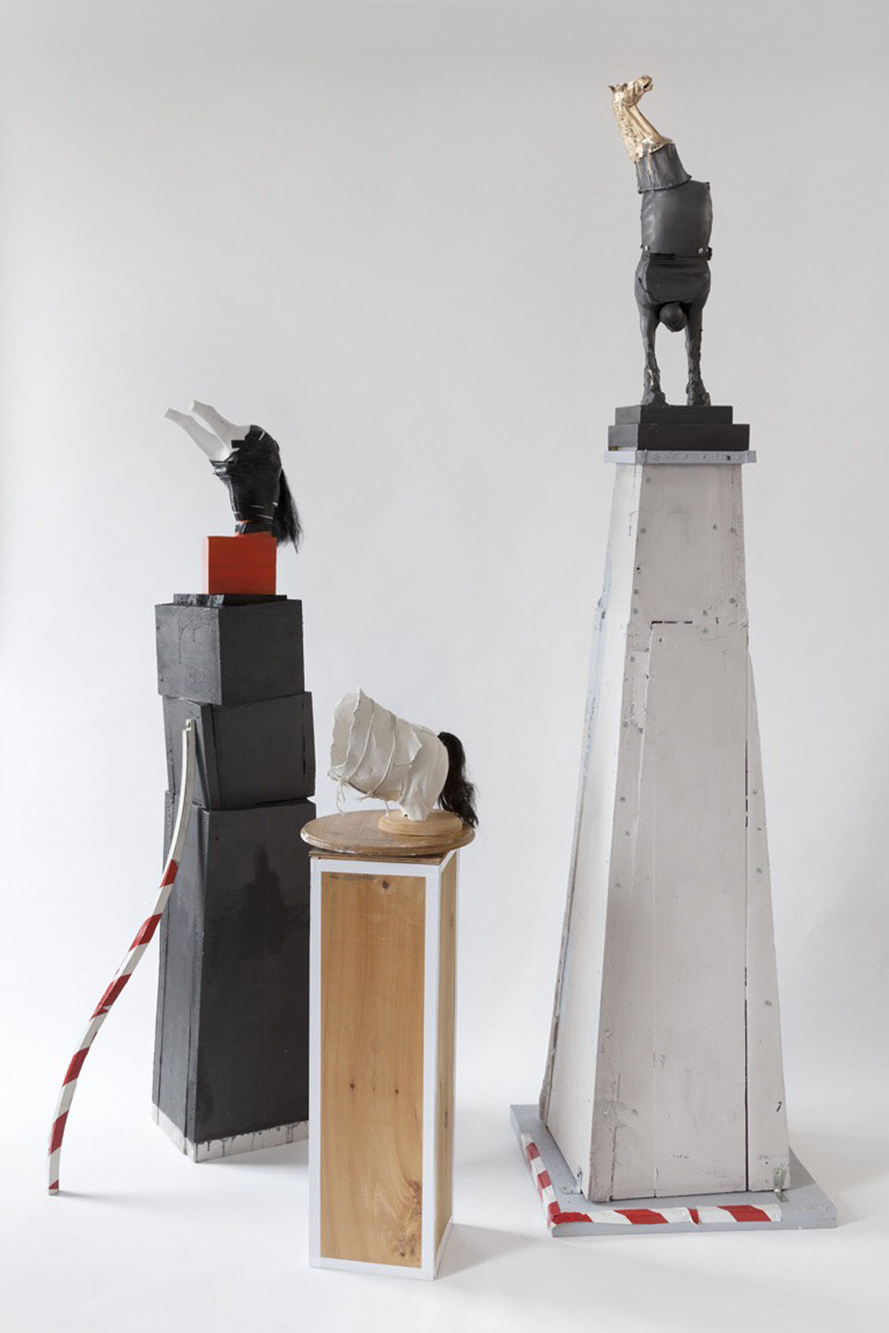 "Kathleen Volp's ""Anti-Monuments."" (Courtesy Boston Sculptors Gallery)"
