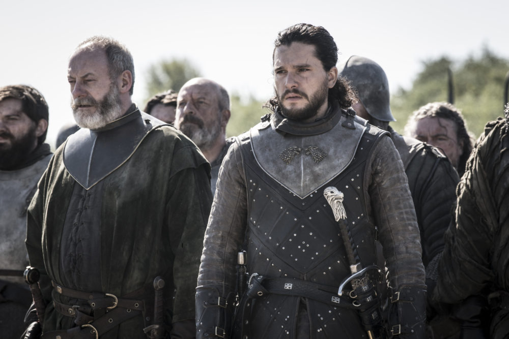 """Liam Cunningham and Kit Harington in """"Game of Thrones."""" (Helen Sloane/HBO)"""