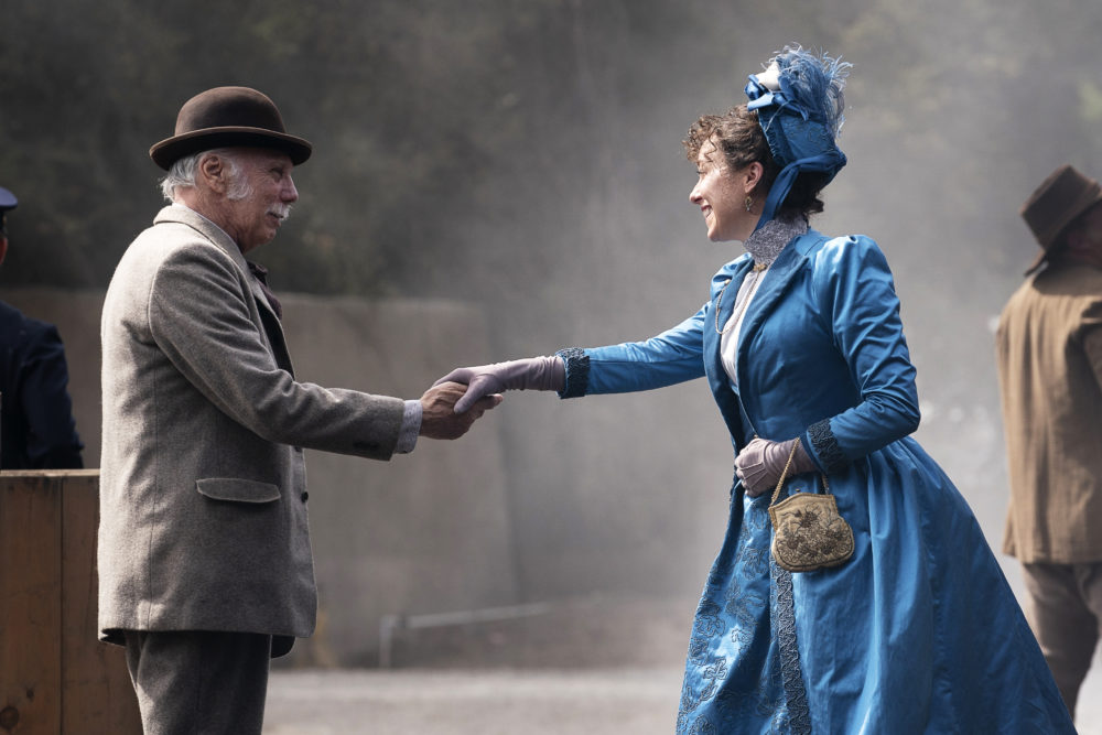 """Dayton Callie (left) as Charlie Utter and Molly Parker as Alma Ellsworth in """"Deadwood: The Movie."""" (Courtesy Warrick Page/HBO)"""