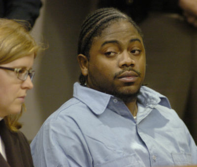 Michael Addison, the only person on death row in New Hampshire, is seen during his 2006 arraignment. (Dick Morin/AP/Pool)