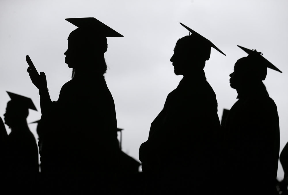 College graduates about to receive their diploma. (Seth Wenig/AP)