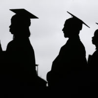 College enrollment has declined. both in Massachusetts and nationally. (Seth Wenig/AP)