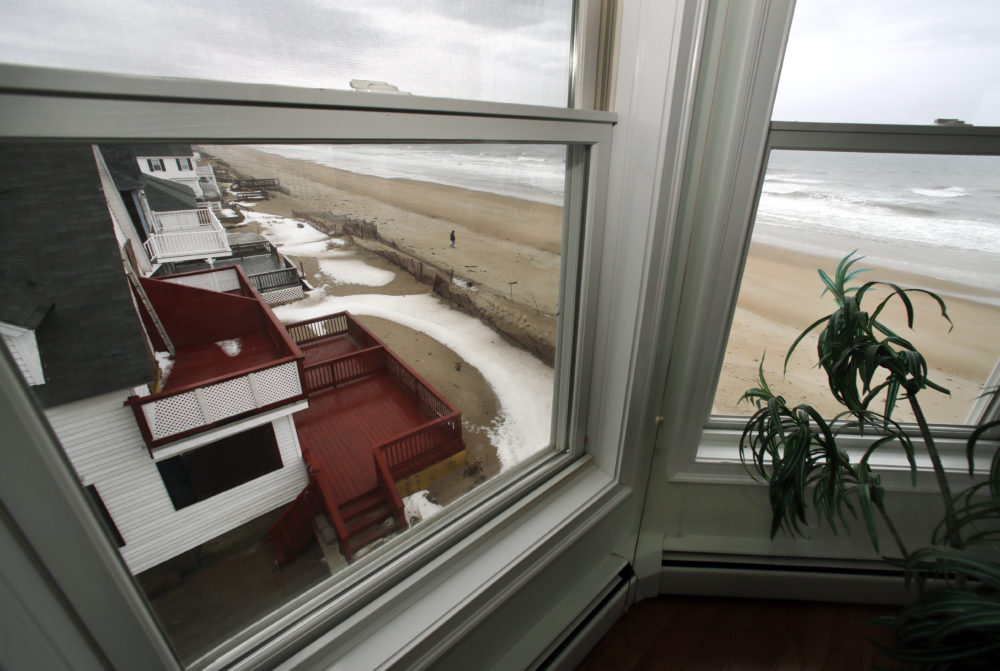 A view out the window of an oceanfront condo in Salisbury (Elise Amendola/AP)