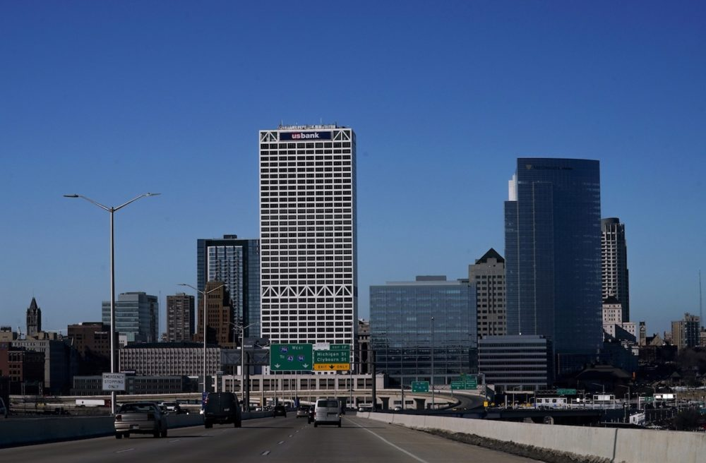 Milwaukee's skyline is seen Monday, March 11, 2019. (Morry Gash/AP)