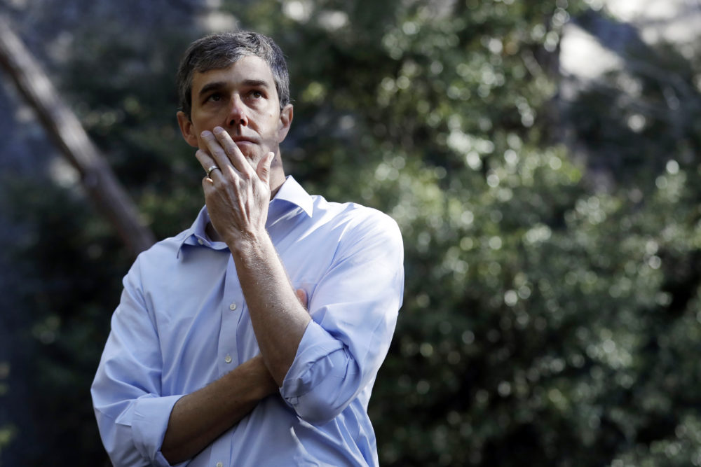 Democratic presidential candidate and former Texas congressman Beto O'Rourke pauses to watch the scenery Monday, April 29, 2019, in Yosemite National Park, Calif. (Marcio Jose Sanchez/AP)