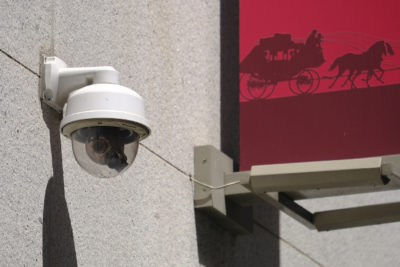 In this photo taken Tuesday, May 7, 2019, is a security camera in the Financial District of San Francisco. (Eric Risberg/AP)