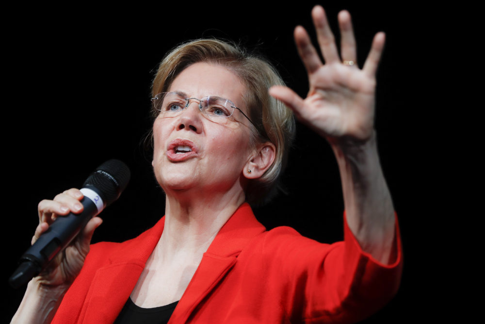 Democratic presidential candidate Sen. Elizabeth Warren, D-Mass.  (John Minchillo/AP)