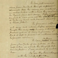 This image filed Wednesday, May 15, 2019, in federal court as part of a forfeiture complaint by the U.S. attorney's office in Boston shows a 1780 letter from Alexander Hamilton that was stolen decades ago. (U.S. Attorney's Office via AP)