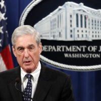 Special counsel Robert Muller speaks at the Department of Justice Wednesday, May 29, 2019, in Washington, about the Russia investigation. (Carolyn Kaster/AP)