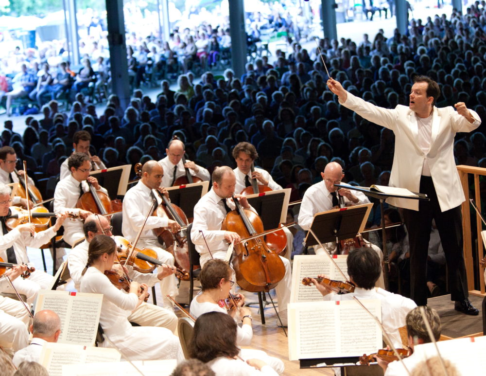 Andris Nelsons at Tanglewood. (Courtesy Hilary Scott)