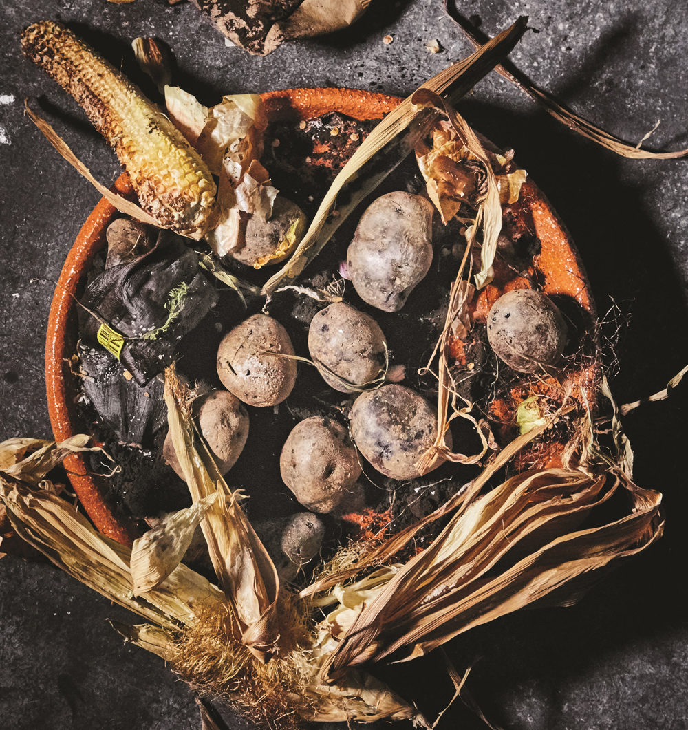 "Compost potatoes from ""Vegetables Unleashed"" by José Andrés and Matt Goulding. (Photo by Peter Frank Edwards)"