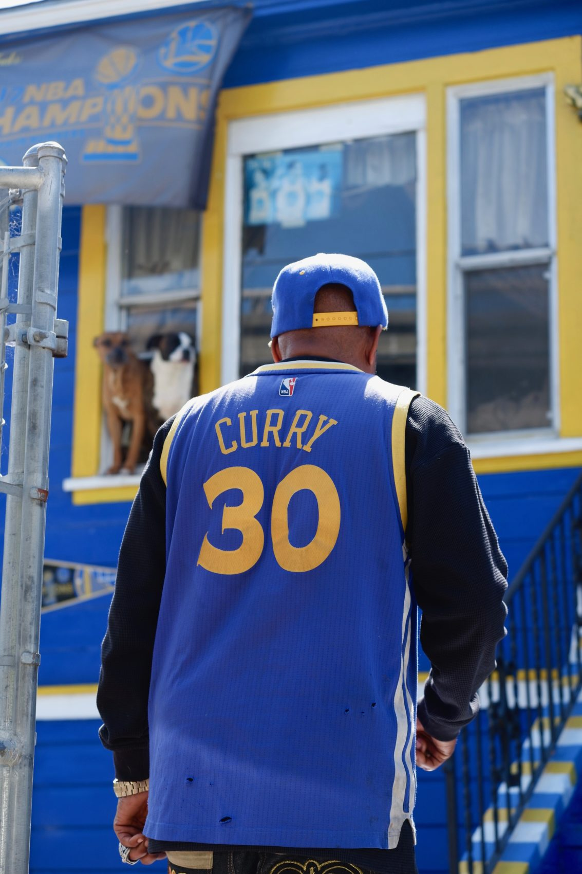big sale 6886a 93561 Meet Lloyd Canamore, A Golden State Warriors Superfan | Only ...