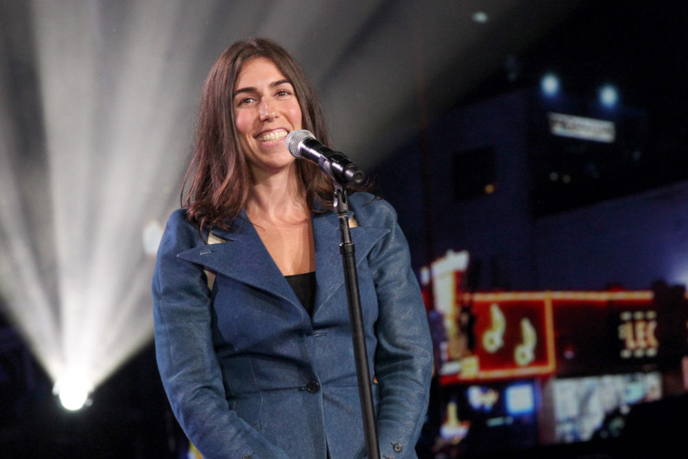 Stephanie Benedetto, CEO of Queen of Raw, speaks onstage during the 2018 Nashville Creator Awards. (Terry Wyatt/Getty Images for the WeWork Creator Awards)