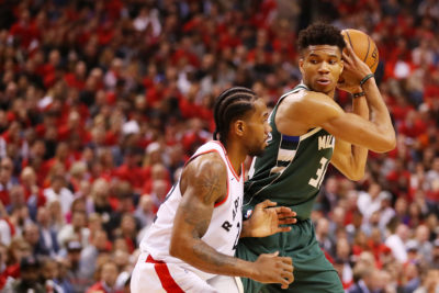 Thanks to his penny pinching throughout the regular season, reporter Kane Pitman can cover the Eastern Conference Finals between the Toronto Raptors and the Milwaukee Bucks. (Gregory Shamus/Getty Images)
