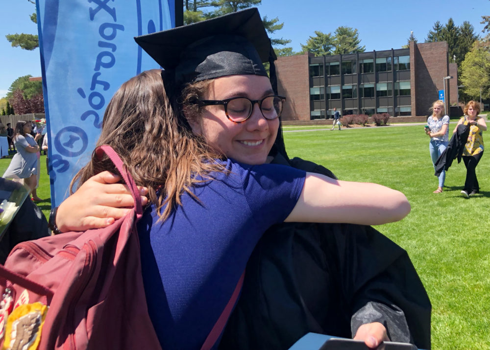Recent Gordon College graduate Rebekah Rodrigues, who identifies as gay, says part of the problem at the school is a lack of tolerance.(Max Larkin/WBUR)