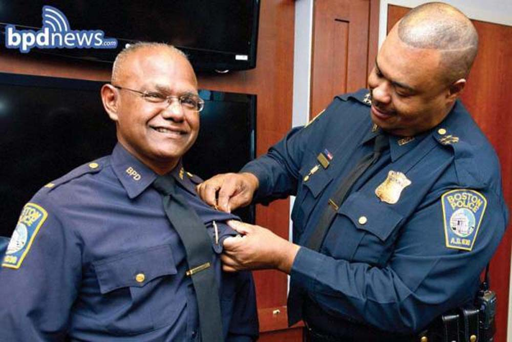 Haseeb Hosein was promoted to Boston Police captain in 2014. (Courtesy Boston Police)