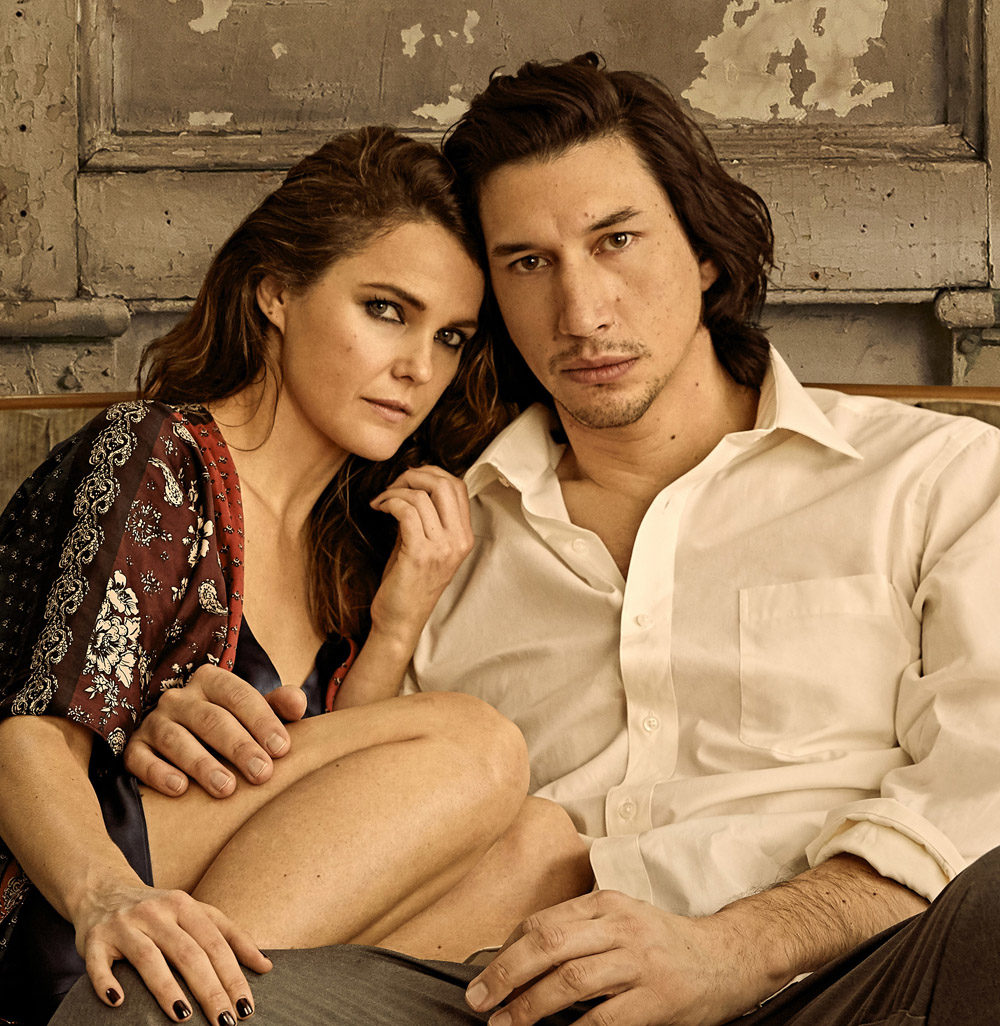 """Keri Russell and Adam Driver in """"Burn This."""" (Photo by Danielle Levitt)"""