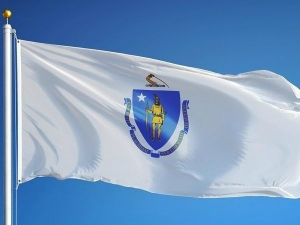 The Massachusetts state flag.