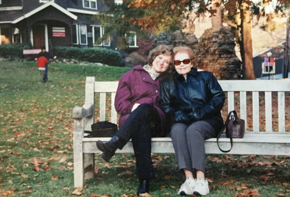 The author and her mom, Dorothy Kagan Wertheimer, at the DeCordova Museum circa 2004. (Courtesy)