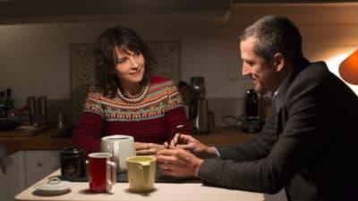 "Juliette Binoche as Selena and Guillaume Canet as Alain Danielson in Olivier Assayas' ""Non-Fiction."" (Courtesy IFC Films)"
