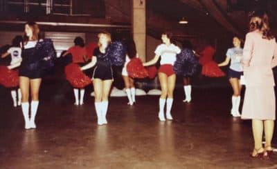 Anna Cruse (far left) at a 1978 Washington Bullettes practice. (Courtesy Anna Cruse)