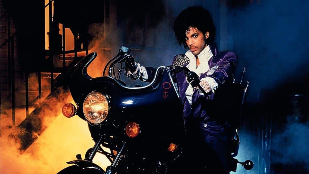 """Prince in the film """"Purple Rain."""" (Courtesy Museum of Fine Arts)"""