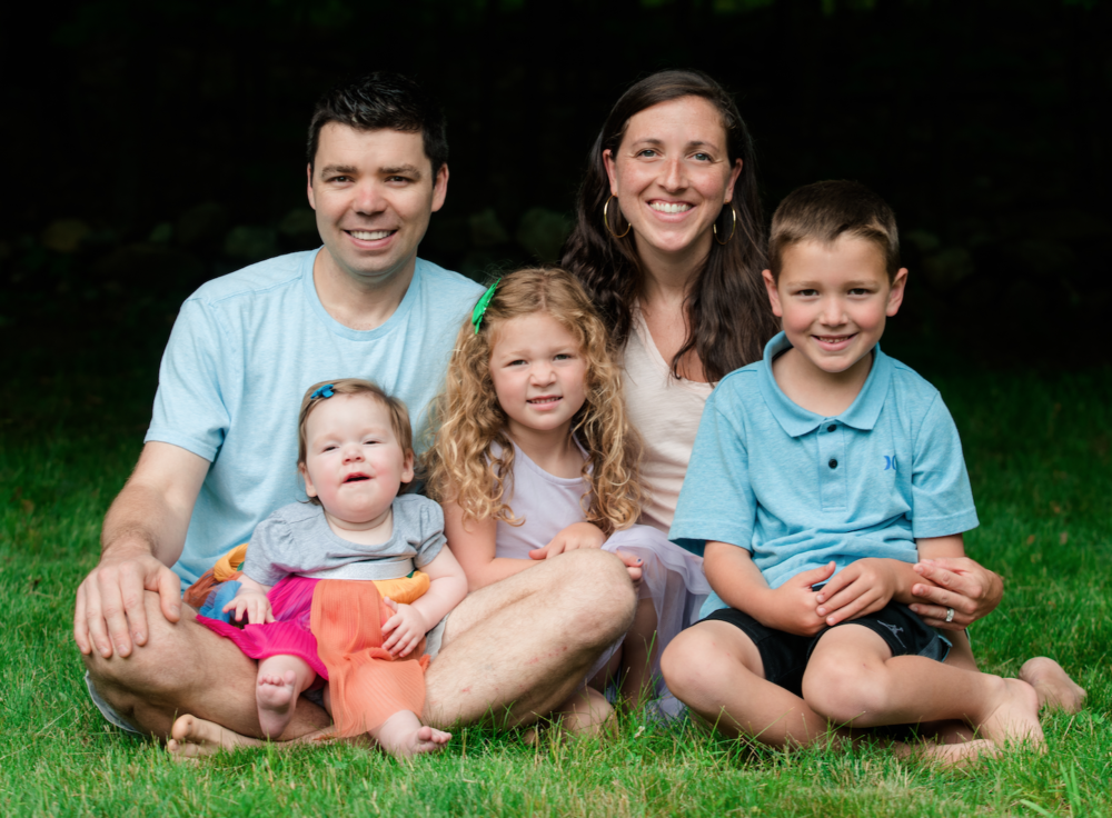 The Brown family, from left to right: Patrick, Kate, Amelia, Rachael and Henry. Kate has spinal muscular atrophy, a rare genetic disease that once would have quickly killed her and now can be treated. Though the drugs are breaking price records. (Courtesy)