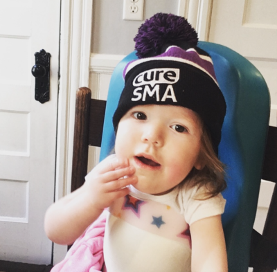 Kate Brown, who has the rare genetic disease spinal muscular atrophy, or SMA, has on her advocacy hat. (Courtesy Brown family)