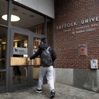 Suffolk University is on a list of more than 400 schools still accepting the applications of students who missed the deadline for fall enrollment. (Jesse Costa/WBUR)