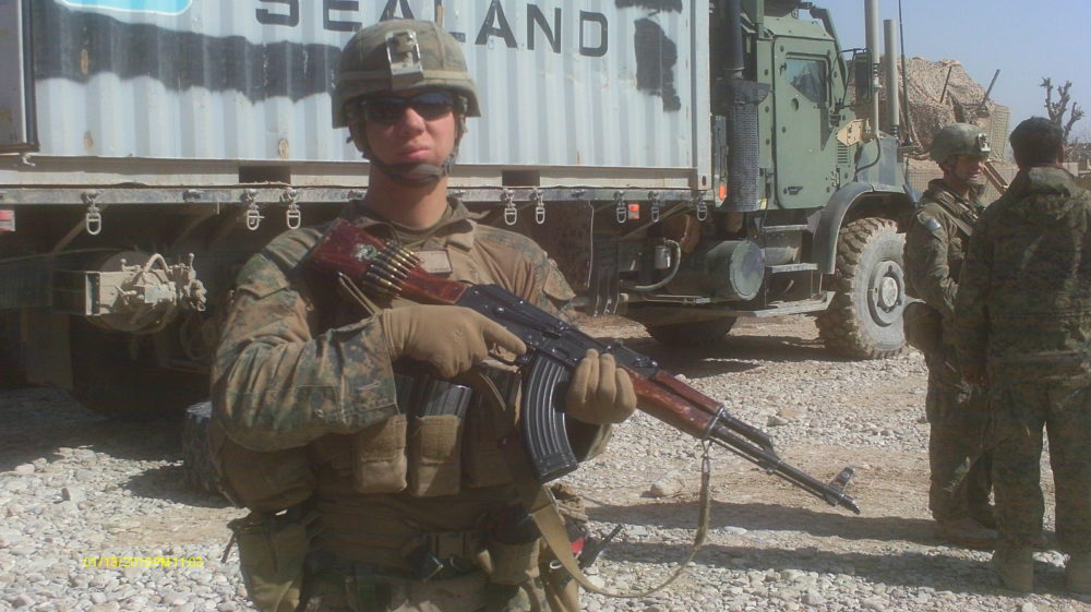 Timothy Tucker in the Sangin District of Afghanistan during his first deployment in 2011. (Courtesy of Timothy Tucker)