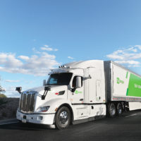 The U.S. Postal Service launched a pilot program for self-driving trucks to move mail over a 1,000-mile route between Dallas and Phoenix. (Courtesy of TuSimple)