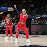 Anna Cruse danced on The Wizdom, an over-50 squad that performed at 10 Wizards games this past season. (Stephen Gosling/NBAE)