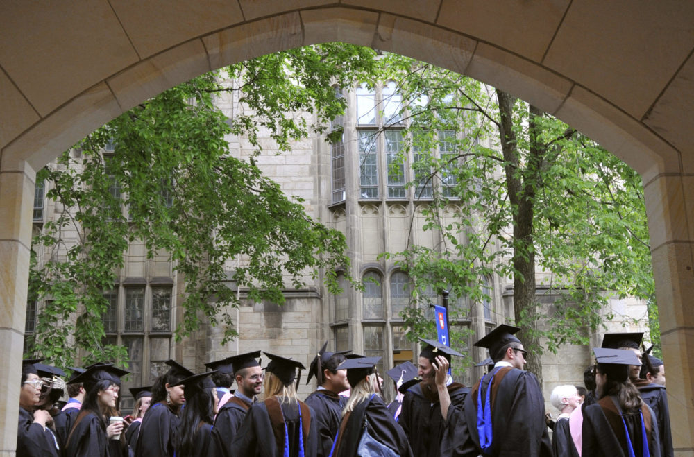 In this May 24, 2010 file photo, future graduates wait for the procession to begin for commencement at Yale University in New Haven, Conn. (Jessica Hill/AP)