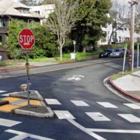 Zachary's Corner, an intersection in Berkeley, Calif., renamed after Zachary Cruz, who died in a crash there in 2009. (Google Maps)