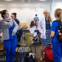 Medical school students at Brown University attend the interprofessional workshop on April 24, 2019. (Courtesy of Nick Dentamaro/Brown University)