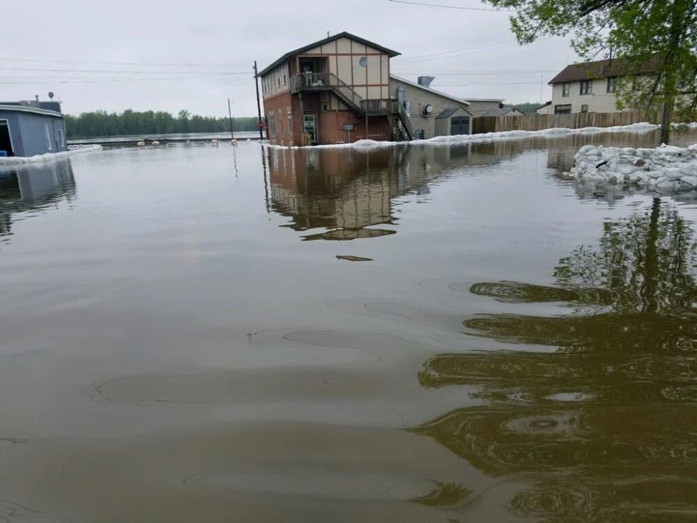Flooding in Buffalo, Iowa. (Photo courtesy of Judy Vanblaracom)