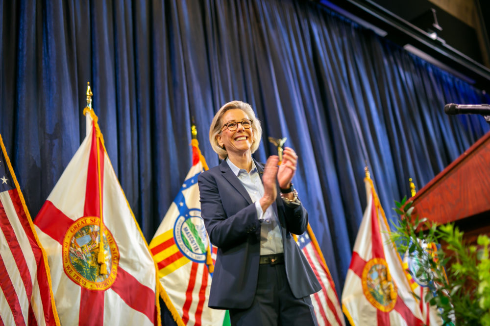 Tampa Mayor Jane Castor at her Oath of Office ceremony, May 1, 2019. (City of Tampa)