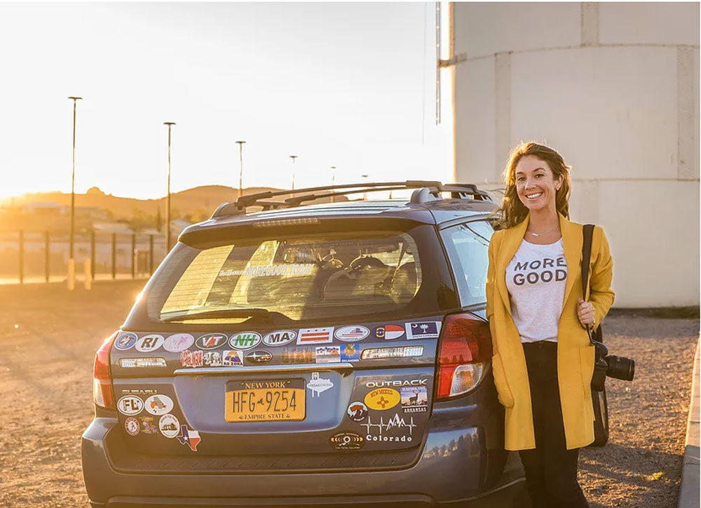 Mary Latham is road-tripping across the country to find stories about kindness (Courtesy Mary Latham)