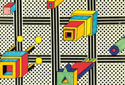 A piece by Nathalie du Pasquier from 1985. (Courtesy ICA)