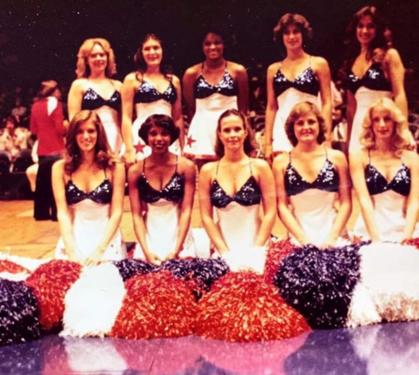 Anna Cruse (front row, left) with the 1978–1979 Washington Bullettes dance team. (Courtesy Anna Cruse)