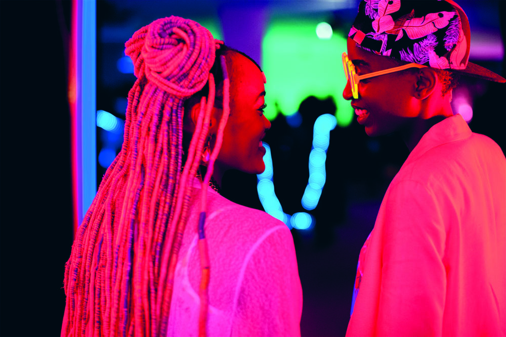 "Sheila Munyiva and Samantha Mugatsia in ""Rafiki."" (Courtesy)"