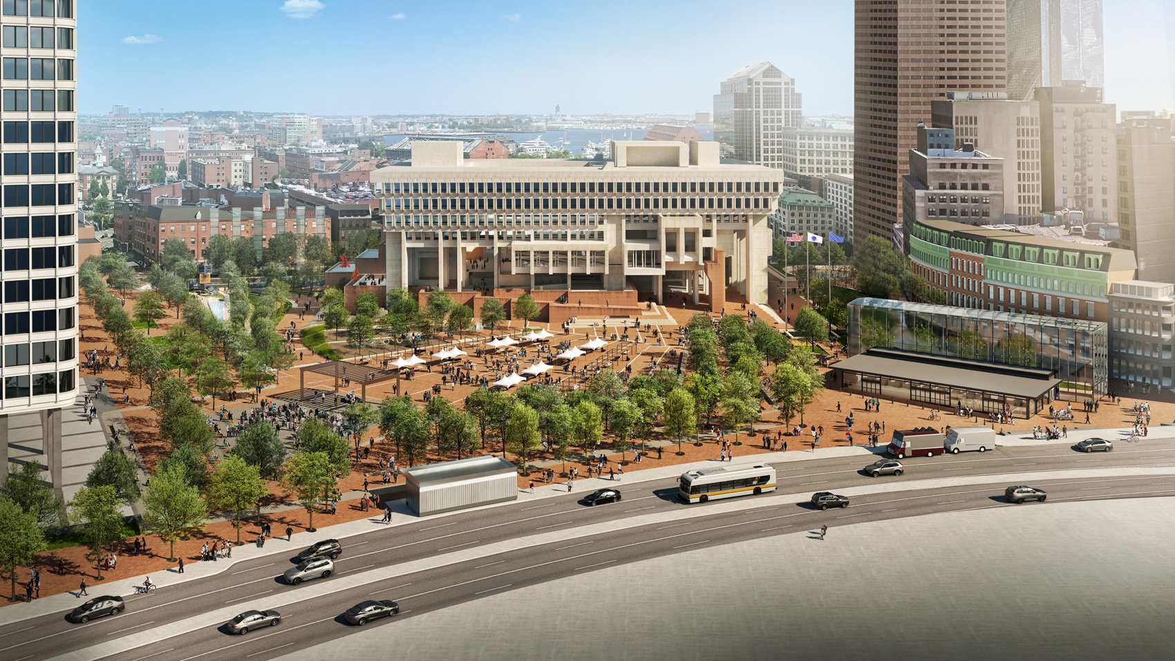 An aerial view of the proposed renovations. (Courtesy City of Boston)