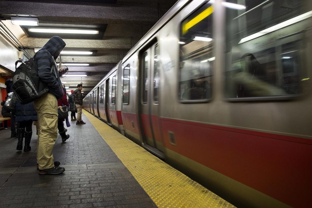 MBTA Red Line train. (Robin Lubbock/WBUR)