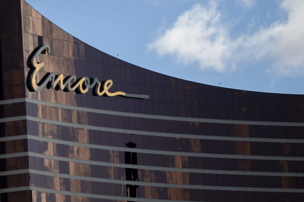 The Encore Boston Harbor casino in Everett. (Jesse Costa/WBUR)