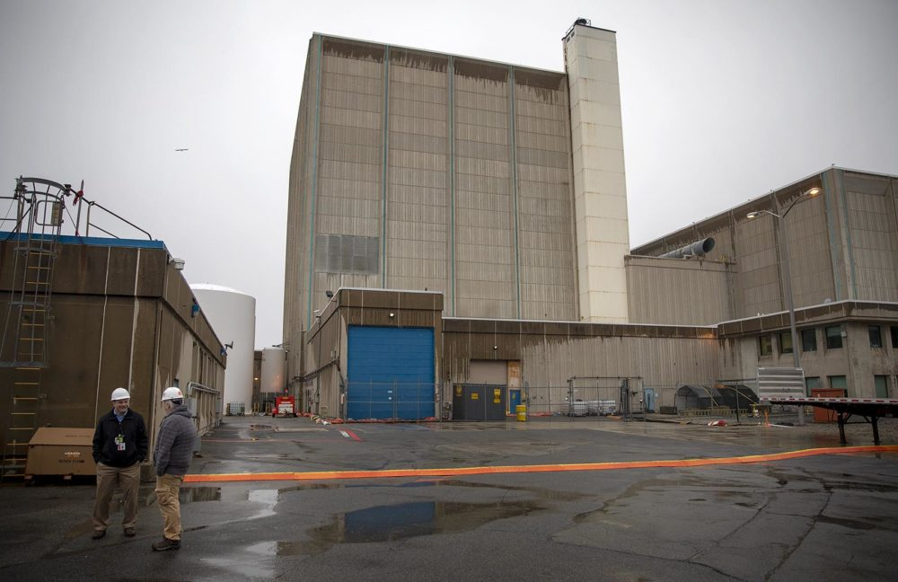 The closure of the Pilgrim Nuclear Power Station removes a source of carbon-free energy from the region. (Robin Lubbock/WBUR)