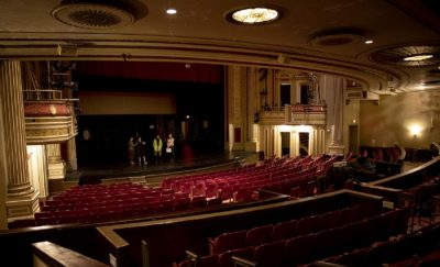 The auditorium of The Strand Theatre, Boston. (Robin Lubbock/WBUR)